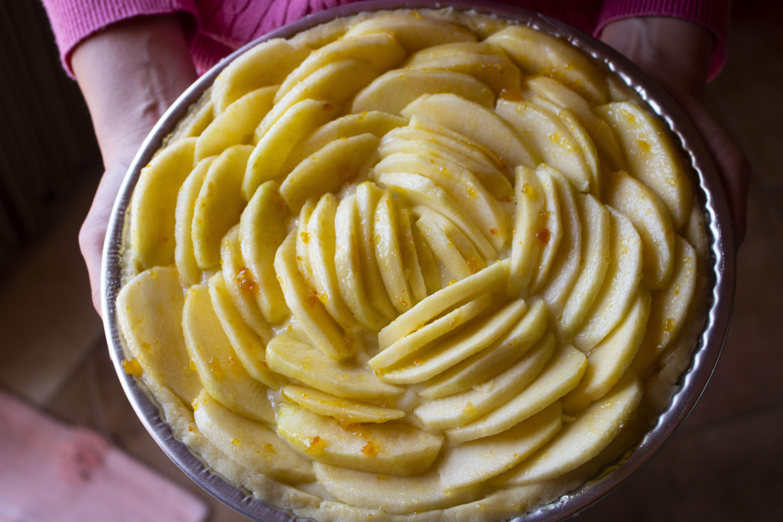Crostata di mele senza lattosio e crema pasticcera