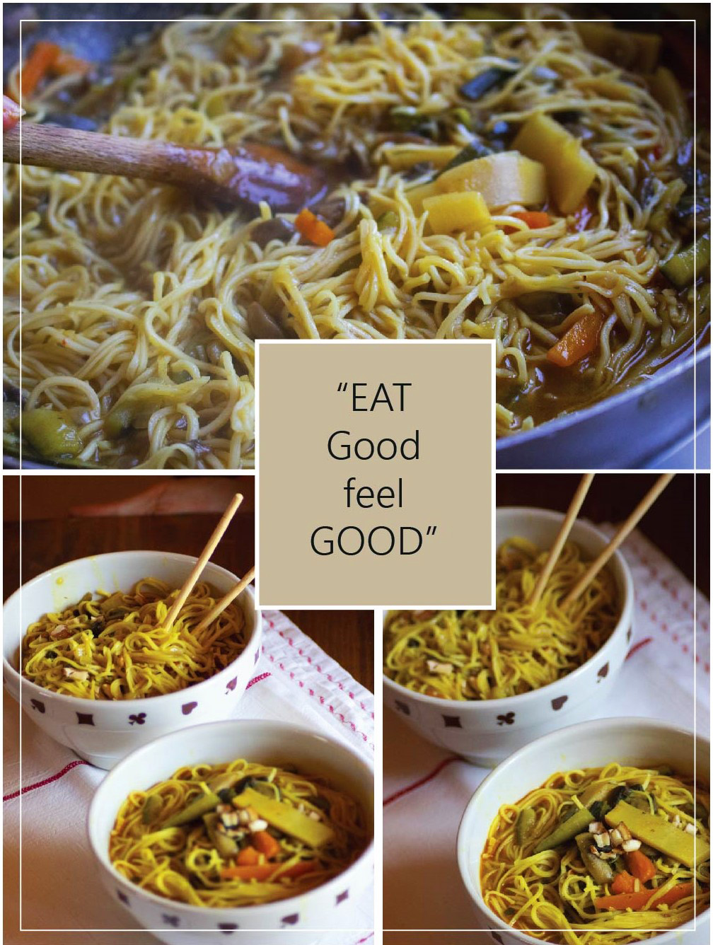 La ricetta dei miei Veg Noodles: sapori orientali a tavola.